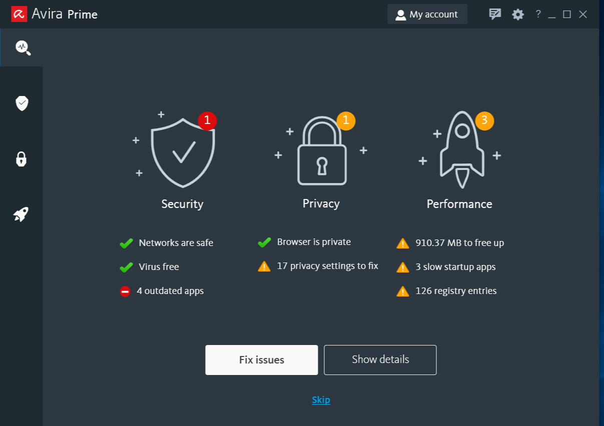 Avira Security Features: