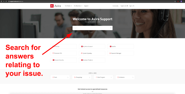 Avira Customer Support