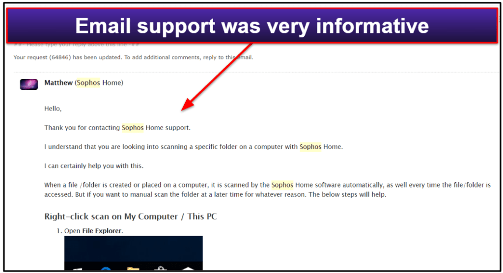 Sophos Customer Support