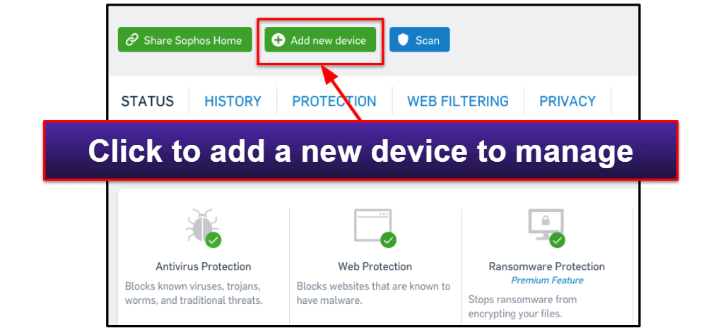 Sophos Security Features