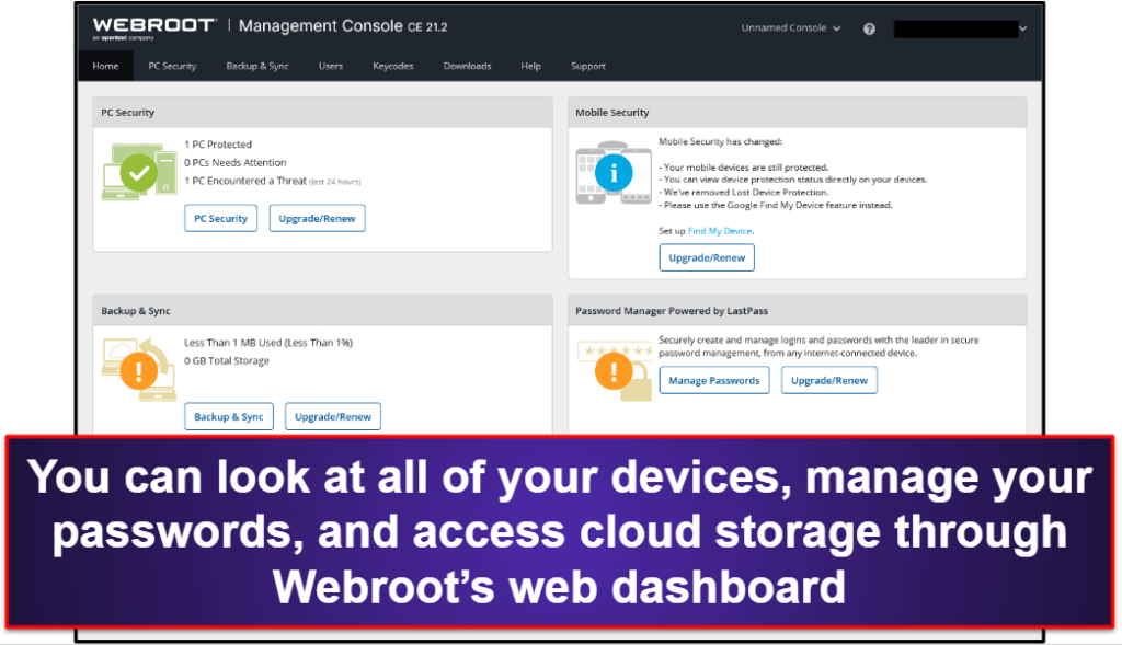 Webroot Ease of Use and Setup