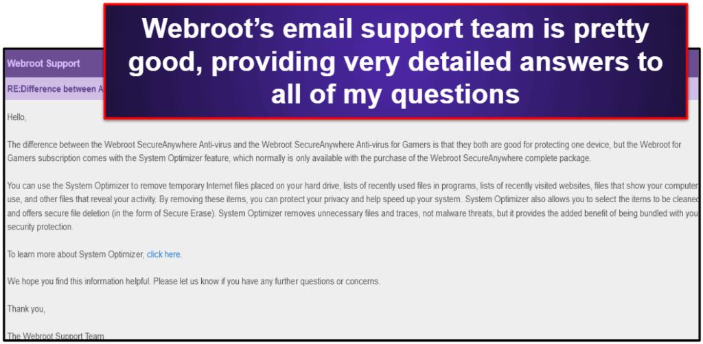 Webroot Customer Support
