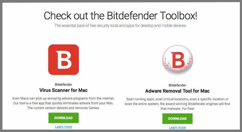 BitDefender Virus Scanner (Descărcare Necesară)