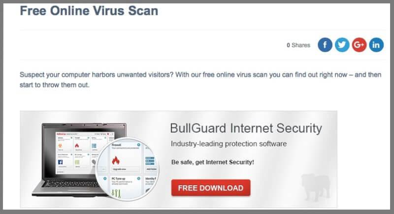 Bullguard Virus Scan (تتطلب التحميل أولاً)