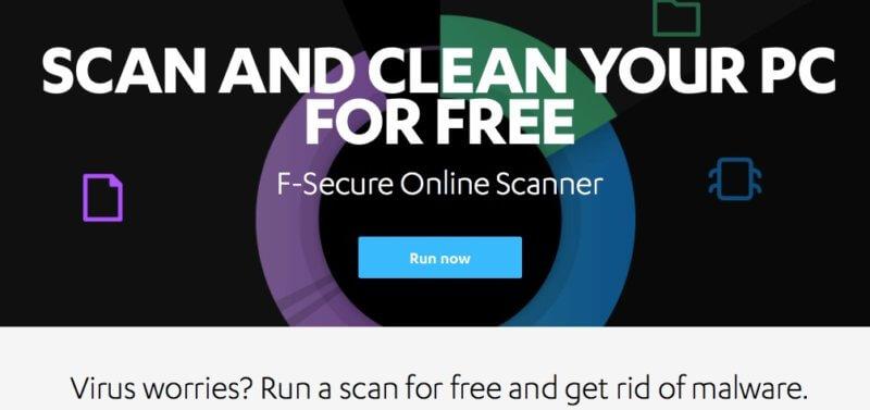 F-Secure Scanner (Необходимо е изтегляне)