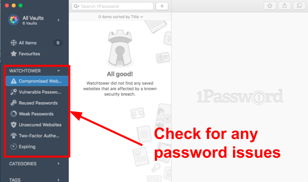 1Password – Sicherheitsfunktionen