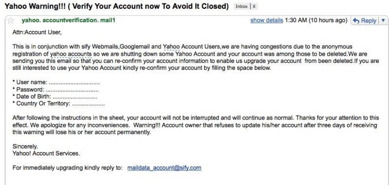 Beware Of Phishing Attempts