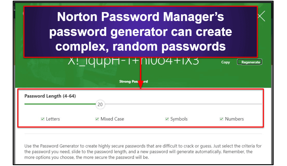 Norton Password ManagerSecurity Features