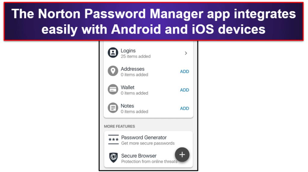 Norton Password Manager Mobile App
