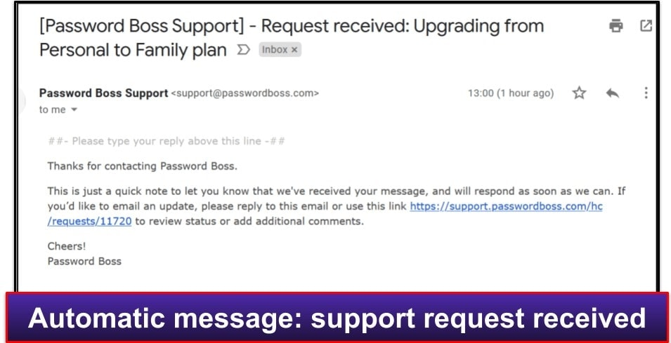 Password Boss Customer Support