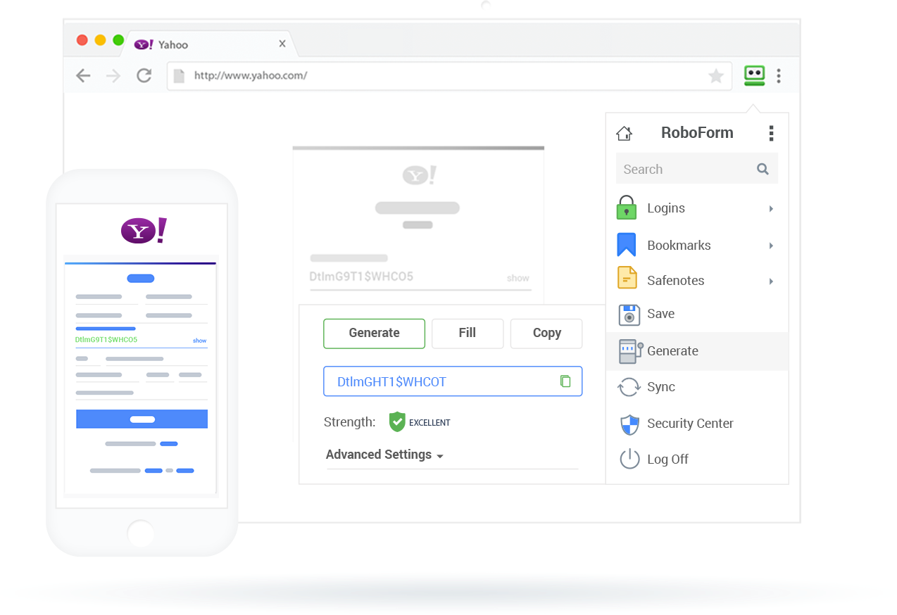 RoboForm – Best for its Basic Extension Feature Set