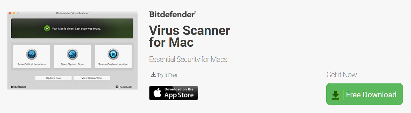 Bitdefender Virus Scanner for Mac — 迅速な検出でベスト