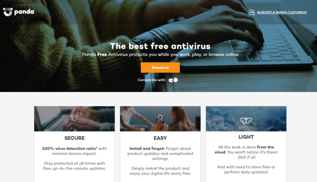 Panda Free Antivirus — лучший за защиту в интернете