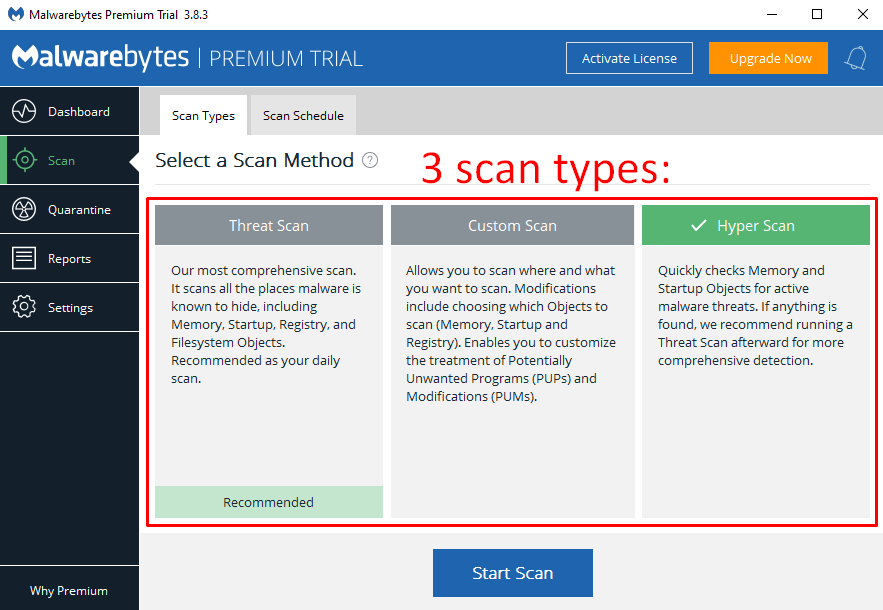 Malwarebytes Security Features