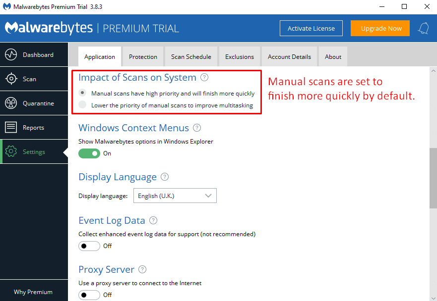 Malwarebytes Ease of Use and Setup
