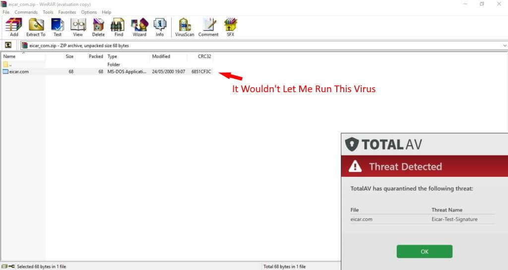 TotalAV 바이러스 백신 보안 기능