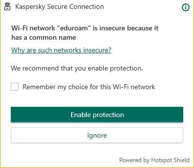 Caratteristiche di sicurezza Antivirus di Kaspersky