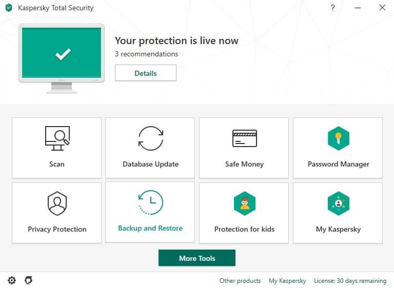 Kaspersky Antivirus es fácil de usar