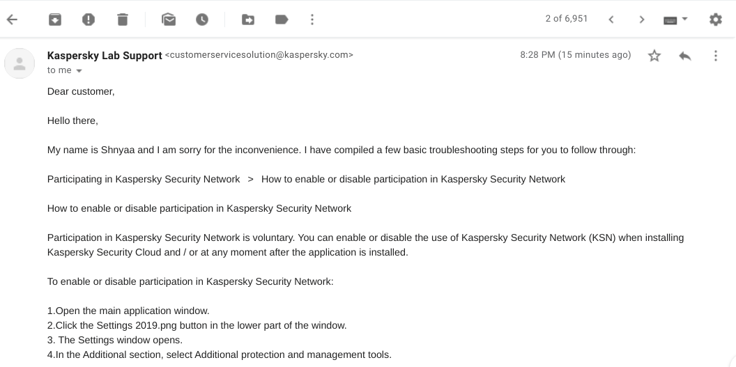 Kaspersky Antivirus Customer Support