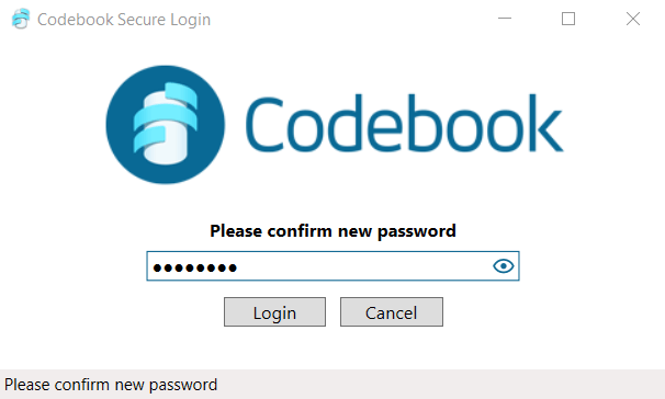 Codebook Password Ease of Use and Setup