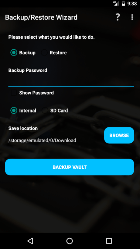 Vaultage Password Manager Ease of Use and Setup
