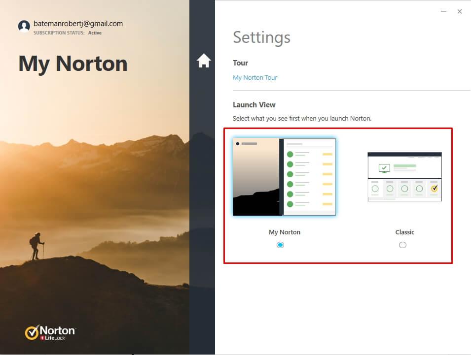 Простота использования Norton 360