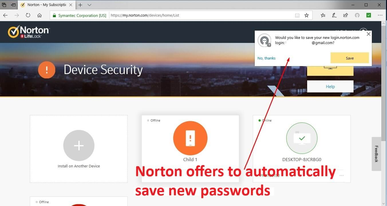 Norton 360 Security Features