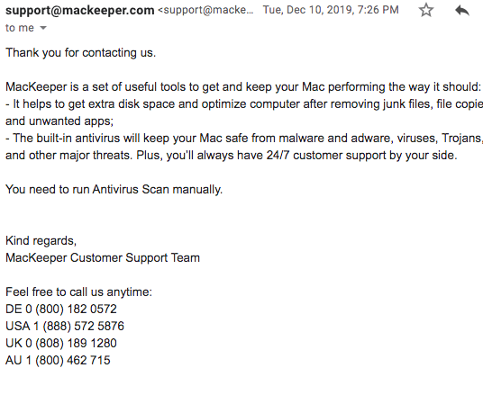 MacKeeper Customer Support