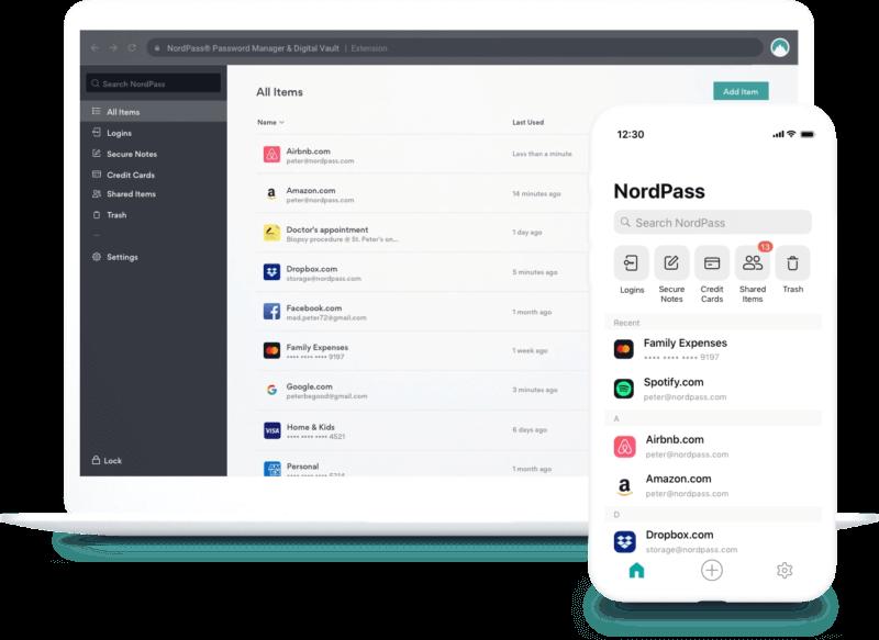 4.NordPass– l'interface iOS la plus intuitive