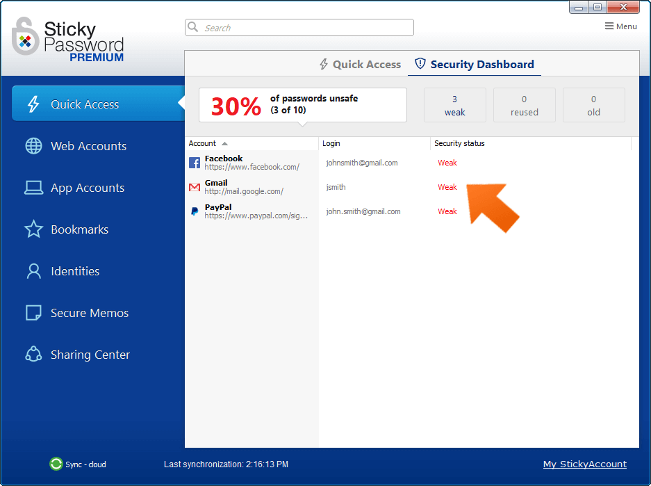 Sticky Password — Secure Data Sync Options