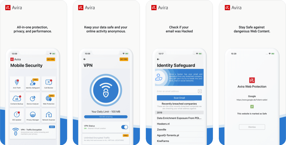 Avira Mobile Security – Best for Privacy and Identity Protection