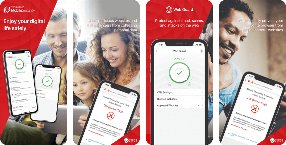 Trend Micro Mobile Security – Best for Safe Surfing and Parental Control Tools