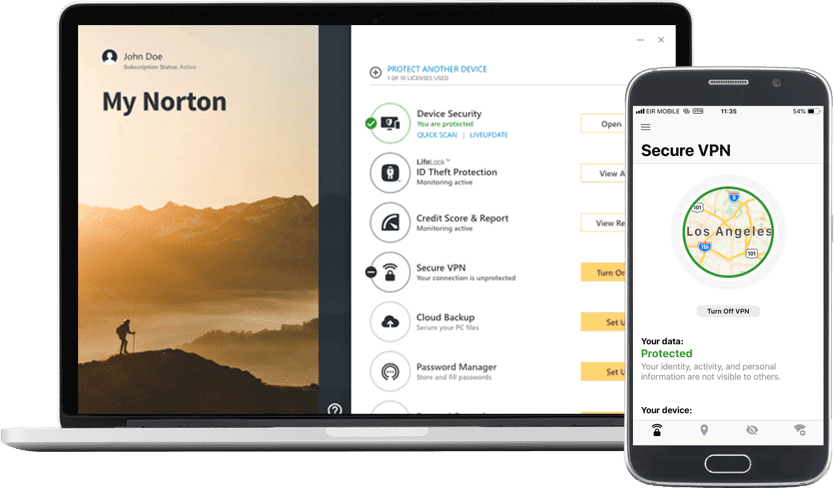 🥇1. Norton — Best Overall Antivirus with VPN
