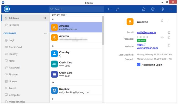 Enpass — 具有离线访问功能的最佳预算密码管理软件
