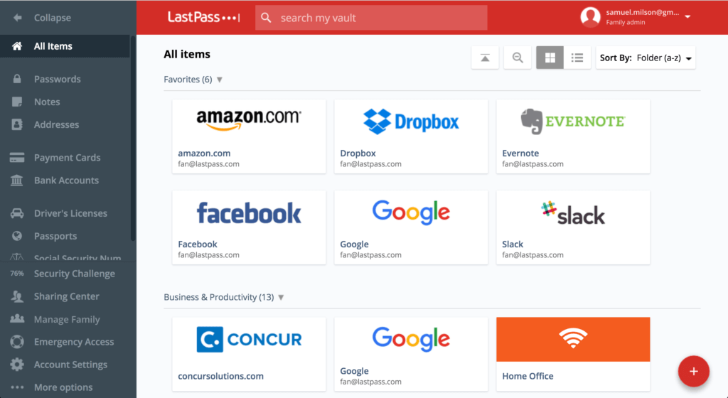 🥉3. LastPass — Best Free PC Password Manager