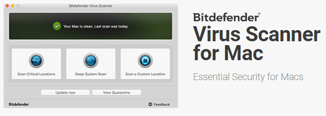 Bitdefender Virus Scanner for Mac — Examina o macOS em busca de malware (download gratuito online)