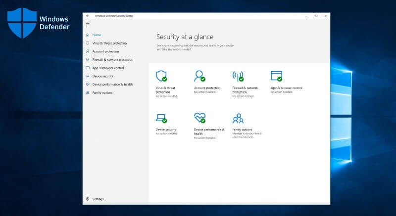 <strong>Windows Defender (ts. Microsoft Security Essentials)</strong>
