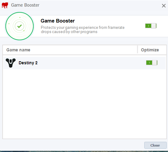Game Booster + optimizacija PC-ja