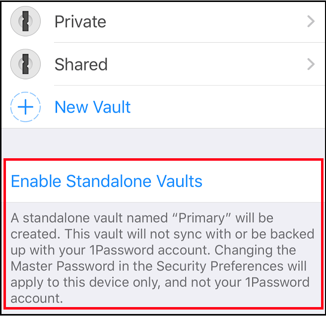 Application mobile de 1Password