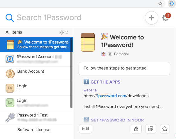 1Password Sikkerhedsfunktioner