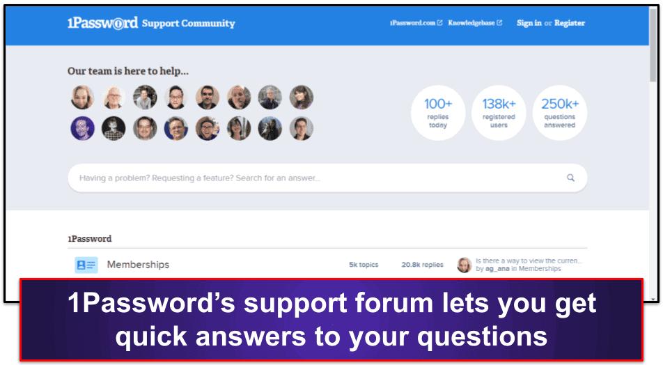 1Password Customer Support