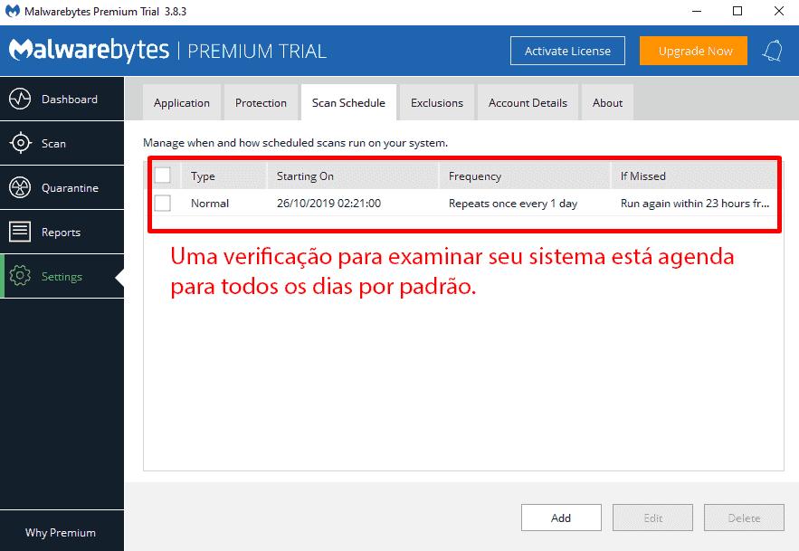 Facilidade de uso e configuração do Malwarebytes