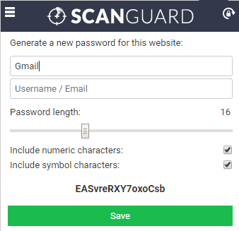 Scanguard Security Features