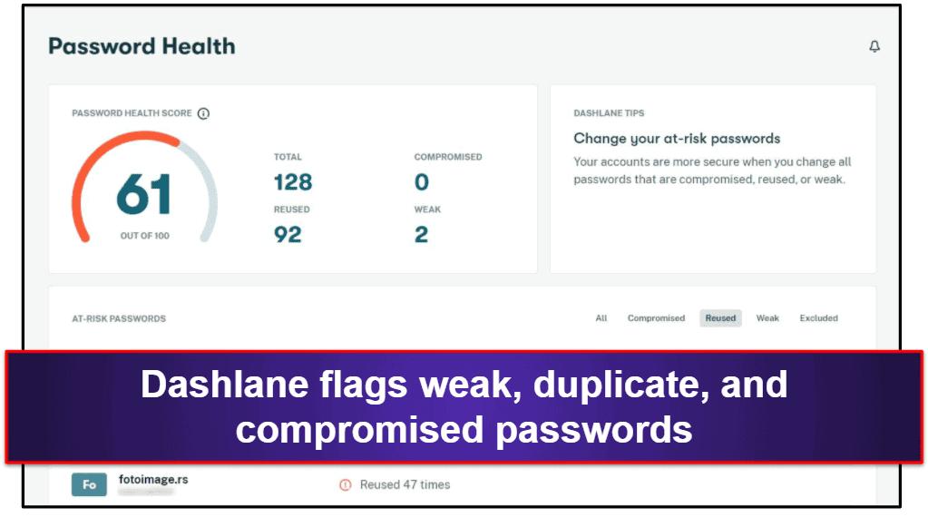 Dashlane Security Features