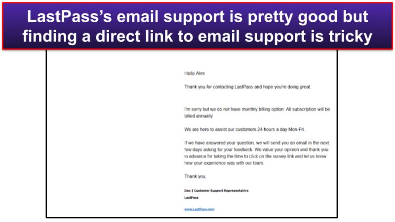 LastPass Customer Support