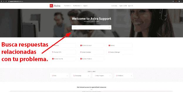 Servicio de atención al cliente de Avira