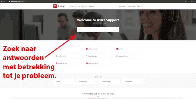 Avira's klantenondersteuning