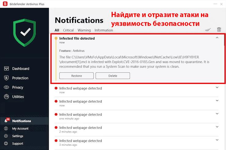 Удобство использования и установки Bitdefender