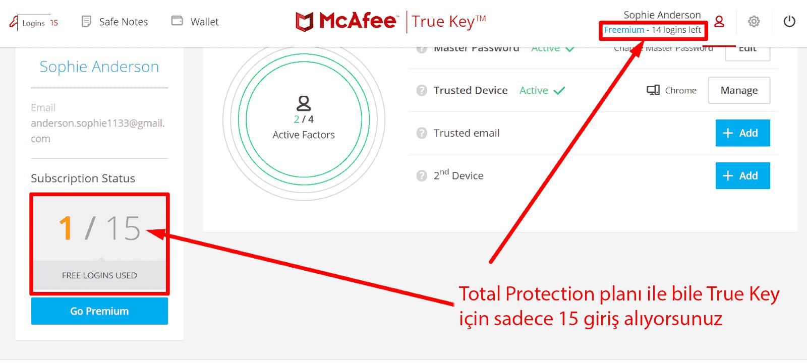 McAfee Güvenlik Özellikleri