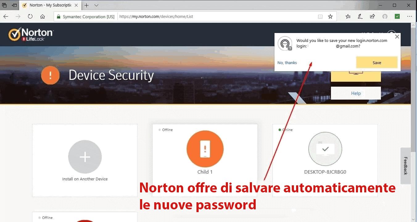 Caratteristiche di sicurezza di Norton 360